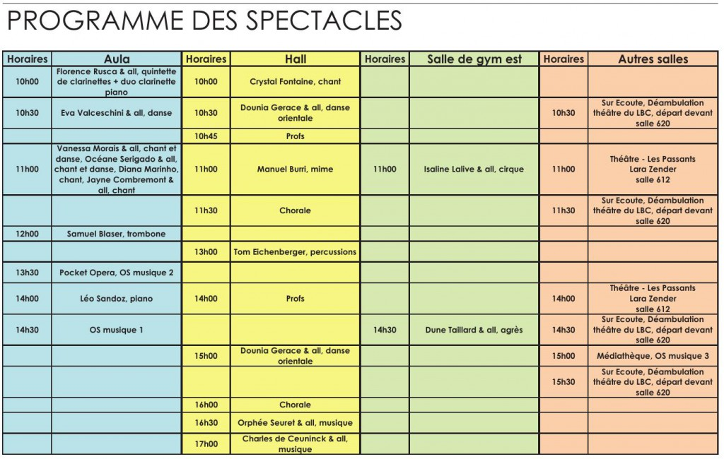 ProgrammeDesSpectacles