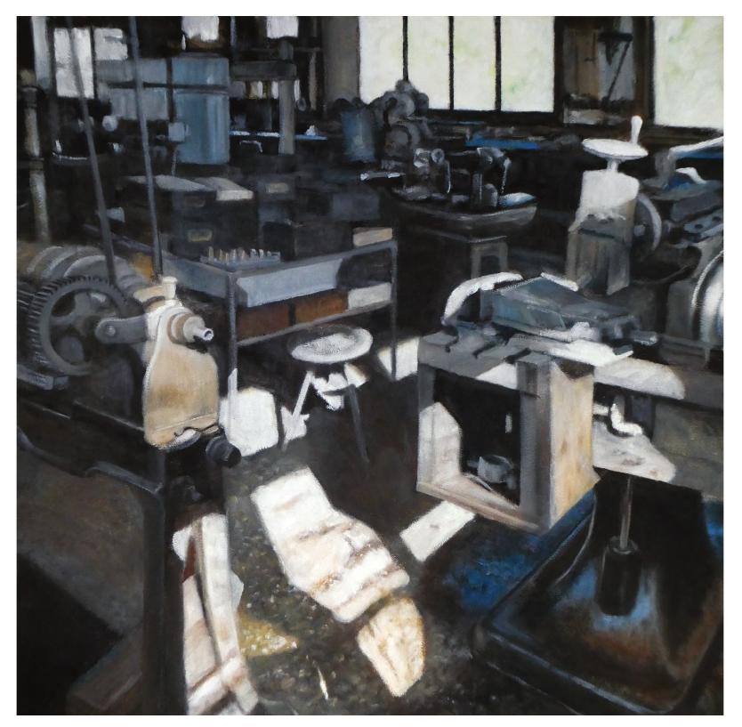 La fabbrica XXXVI, huile sur panneau, 2020